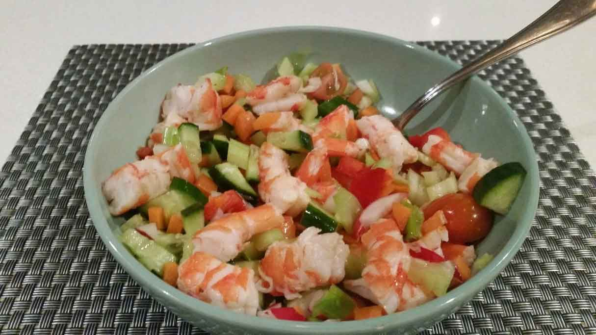 Crunchy Prawn Salad Soulful Fitness