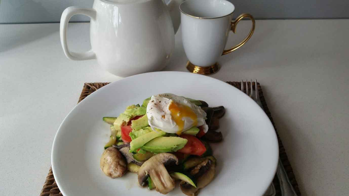 Vegetable Stack and Poached Egg Soulful Fitnss