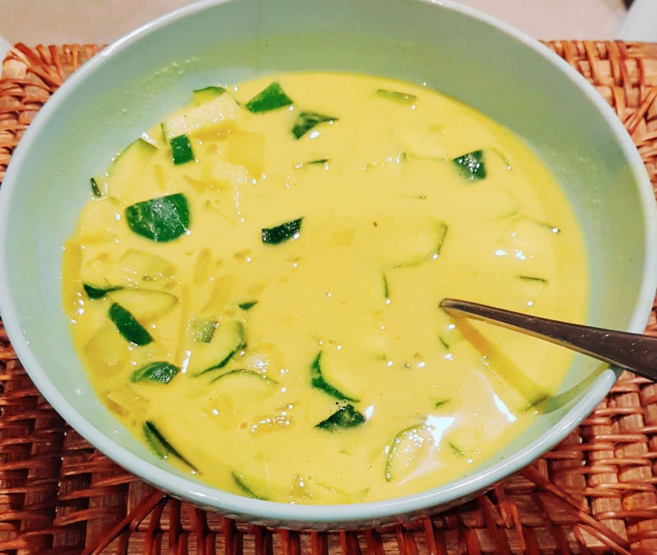 Tumeric Zucchini Soup