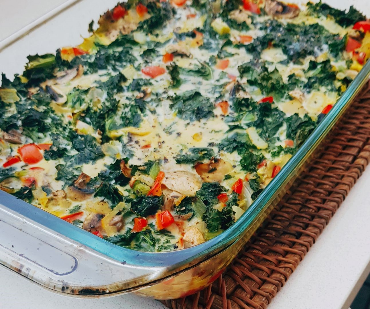 Kale and Vegetable Dairy Free Frittata