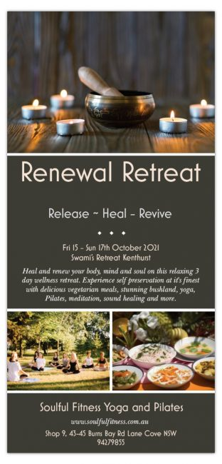 2021 Renewal Retreat by Soulful Fitness Lane Cove